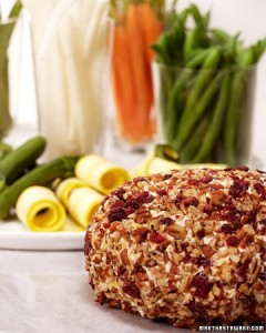 Martha Stewart's Chutney Cheese Ball - this is fabulous with a basket of crackers or plate of vegetables