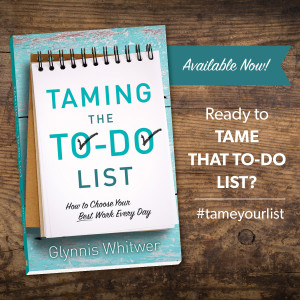 Taming the To-Do List will help you identify your priorities and live them out.