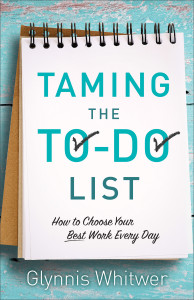 If you'r tired of putting of things you know you should do, you'll enjoy Taming the To-Do List: How to Choose Your Best Work Every Day by Glynnis Whitwer