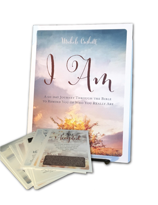 I Am and scripture cards by Michele Cushatt